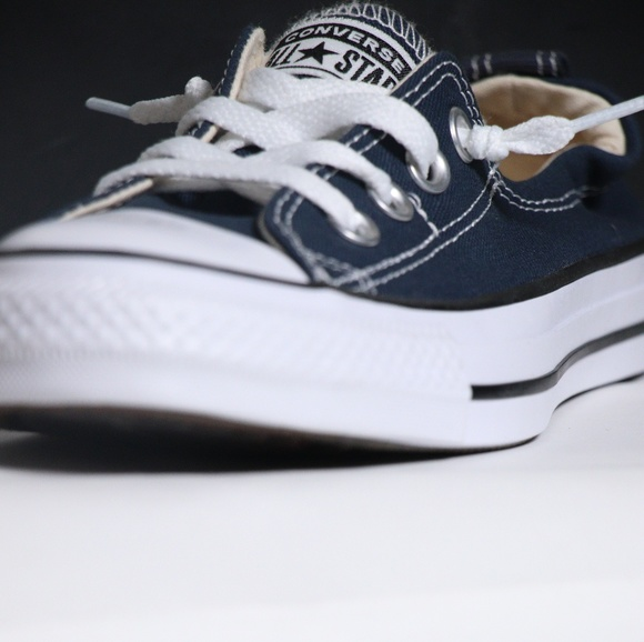 1a3702fe7d15 Converse Navy Blue Shoreline All Star Slip Ons